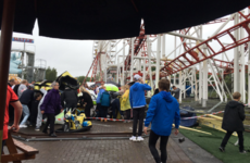 Nine children and two adults injured after rollercoaster crashes off rails in Scotland