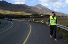 This Mayo man has walked over 1000km around Ireland barefoot - and he's not finished yet