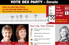 Australians can vote for the Sex Party, Hemp Party and Smokers' Rights Party in this week's election