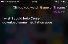 Here's what happens when you ask Siri about the Game of Thrones finale