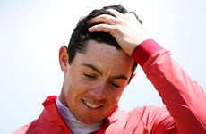 McIlroy scrambles even-par round after finding water twice in France