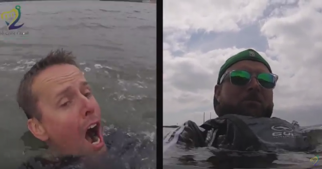 Video shows the difference a life jacket makes when you fall in Irish waters