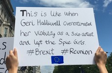 Some of the signs at the Brexit protest in London yesterday were class