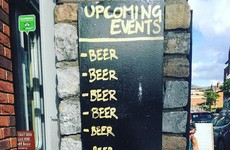 This Dublin pub has a wonderfully sarcastic list of upcoming events outside