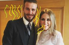 "Amy Huberman met Beckham at Wimbledon and he ""smells like success""  ... It's The Dredge"