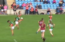 Mayo's Martha Carter played most of the Connacht final with a broken hand