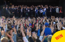 The Iceland football team were welcomed home from the Euros with this spine-tingling 'Viking Clap'