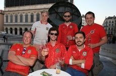 Ahead of the biggest game in their football history, Welsh fans begin invasion of Lyon