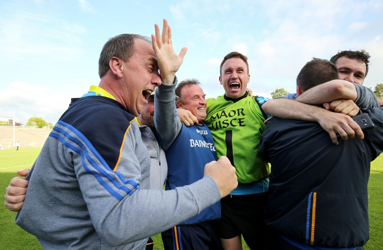 big shock as longford dump monaghan out of the championship · the42 denis connerton and his backroom team celebrate a famous win