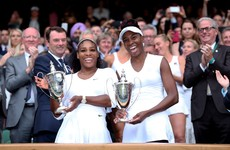 Serena Williams wasn't content with just the Wimbledon singles title today