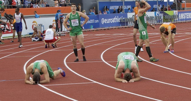 Ireland's relay team miss out on Olympics by .07 of a second but there may still be hope