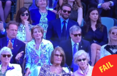 The cameras at Wimbledon caught Bradley Cooper and his girlfriend having a tiff