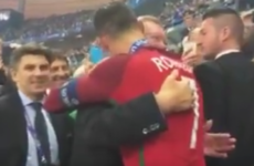 Ronaldo shared an emotional moment with his 'football father' last night