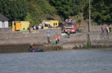 Lucky escape for woman after car entered water at Carlingford slipway