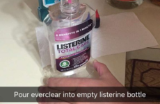 Someone has come up with an ingenious way to sneak booze into a festival