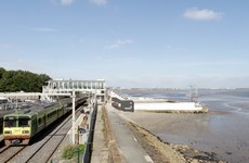 There are no trains running between Dublin and Dun Laoghaire today