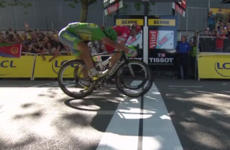 Sagan sneaks home in epic photo-finish sprint, Martin retains ninth spot overall