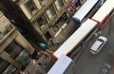 Bus crashes into multiple vehicles in Glasgow city centre