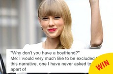 A snippet of Taylor Swift's response to Kim Kardashian has turned into a gas meme