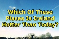 Which Of These Places Is Ireland Hotter Than Today?