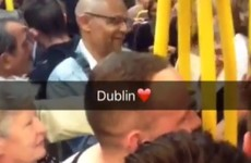 A whole carriage of people danced to Maniac 2000 on this Luas and it was glorious