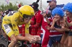 Froome tightens grip on yellow jersey in uphill time trial as Martin drops to 10th