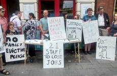 """We're not going anywhere"" - Demonstration held in support of homeless families on O'Connell Street"