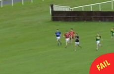 A GAA player has gone viral after this fall in a sprint at Limerick racecourse last night