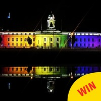 Cork City Hall has lit up in rainbow colours for Pride, and it looks amazing