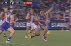 Australian Rules footballer kicks his own leg so hard he breaks it in two places