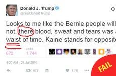 Grammar nerds will grimace at Donald Trump's latest tweet