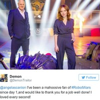 Everyone fell in love with Angela Scanlon on the new Robot Wars last night