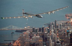 This solar-powered plane is nearing the end of a historic trip