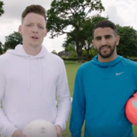 Watch: When Riyad Mahrez met Monaghan's Conor McManus for a keepy-uppy challenge