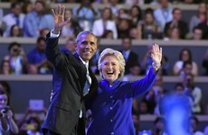 """The Democratic Party is in good hands"" - Obama gives rousing endorsement of Clinton"