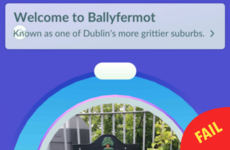 Pokémon Go's description of Ballyfermot is shady as hell