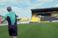 Watch Henry Shefflin's pin-point accurate pass to a man 16 rows back in the stand