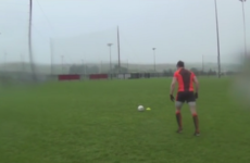 Tyrone star nails crossbar challenge with a rabona that would make Ronaldo blush