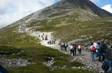 Pilgrims are advised not to climb Croagh Patrick barefoot