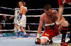 Disappointment for Ireland's Patrick Hyland as he suffers defeat in Leeds