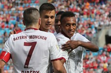 21-year-old American hits hat-trick for Bayern in pre-season glamour friendly