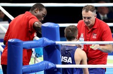 Billy Walsh in the corner as USA secure their first boxing medal of Rio 2016