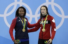 Amazing dead heat in women's 100m freestyle sees USA and Canada share gold