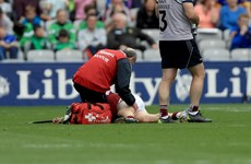 Dislocated elbow and hamstring injury cost Galway two players at half-time today