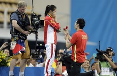 Chinese athlete wins silver medal, accepts marriage proposal from teammate