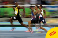 Everyone is sharing this class photo of Usain Bolt winning at the Olympics last night