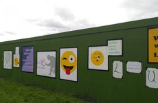 These students in Dublin transformed a Luas hoarding with their own artwork
