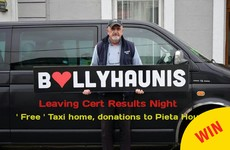 A taxi driver in Mayo is offering Leaving Certs free lifts tonight for a lovely reason