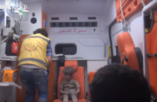 Haunting footage shows stunned face of injured Syrian boy after airstrike