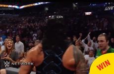 A fan was spotted in a Mayo GAA jersey losing it at WWE SummerSlam last night